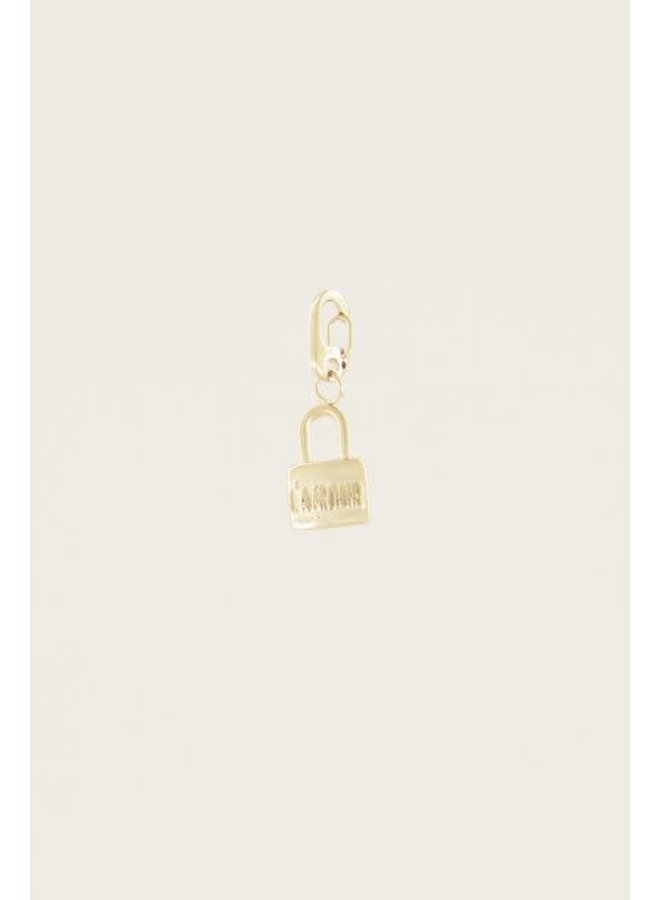 Moments charm love lock Goud ONESIZE