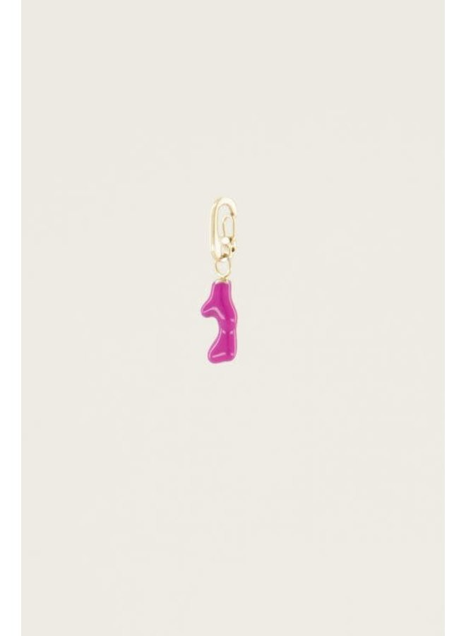 Moments charm fuchsia coral Goud ONESIZE