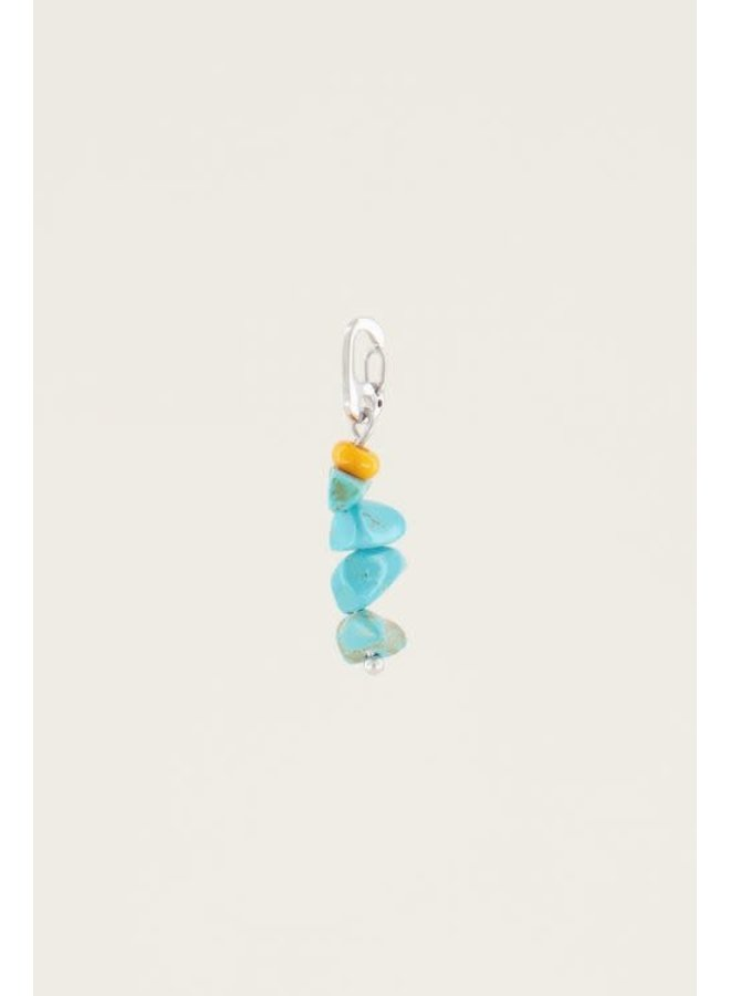 Moments charm blue stone Zilver ONESIZE