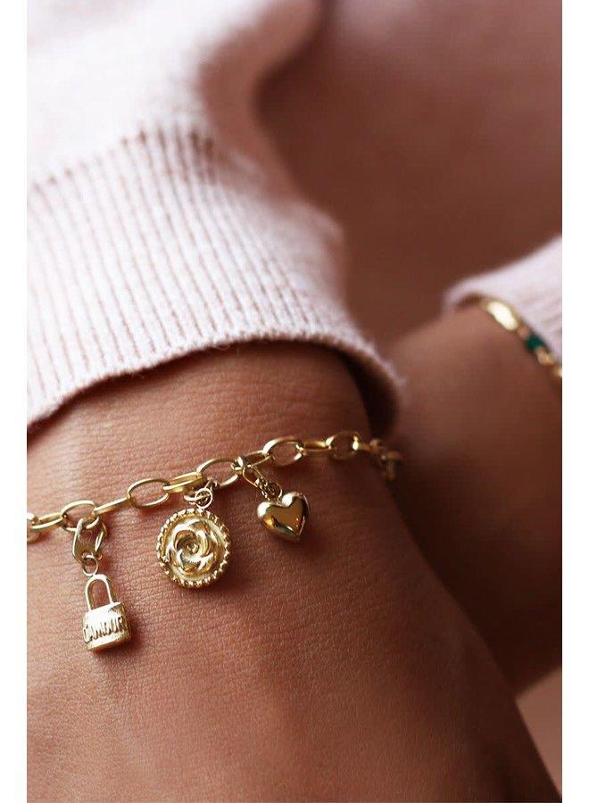 Moments bracelet small Goud ONESIZE