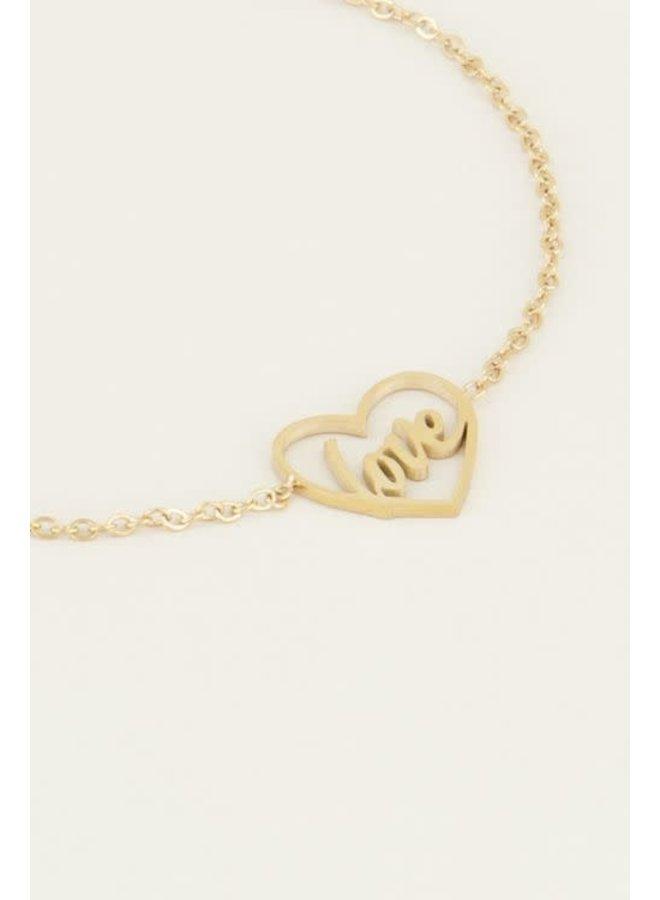 Moments bracelet love Goud ONESIZE