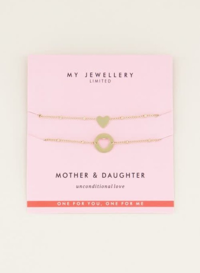 Mother & Daughter Bracelet Goud ONESIZE