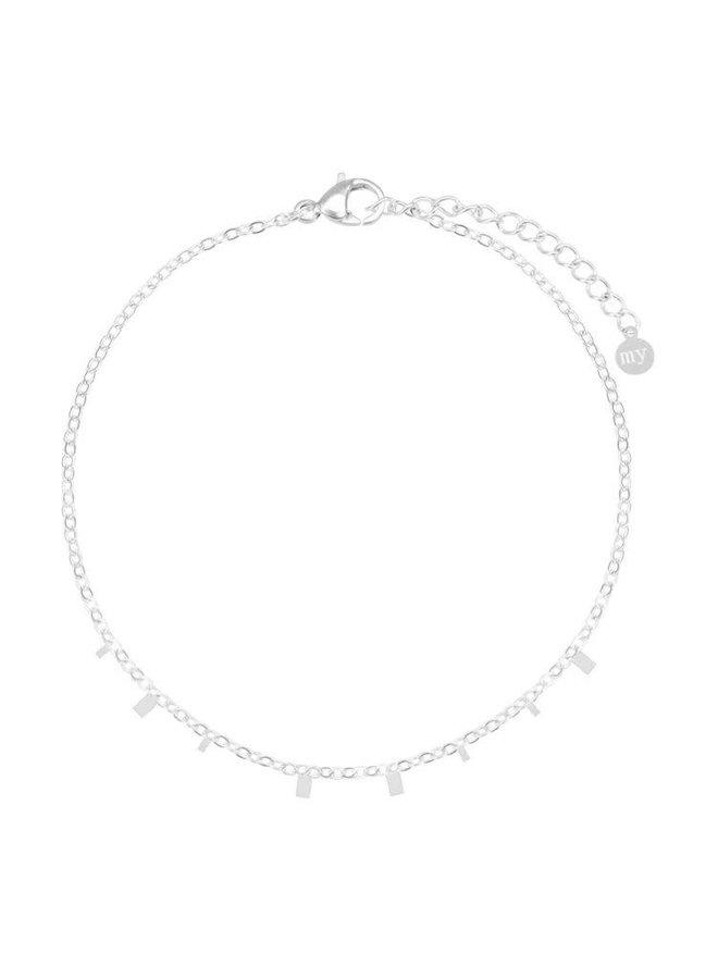 Armband Rechthoekjes Zilver ONESIZE