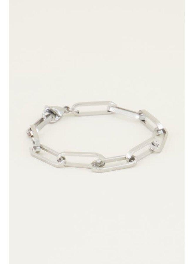 Bulky chain armband Zilver ONESIZE