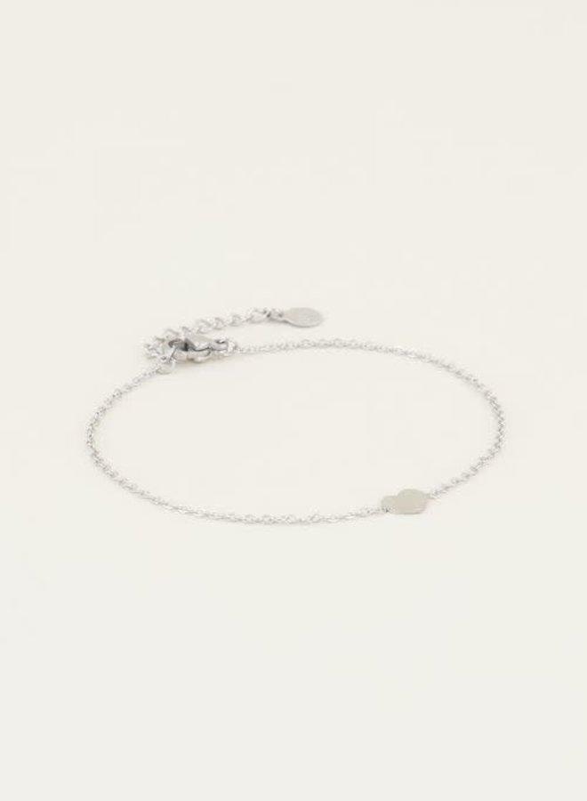Armband hartje Zilver ONESIZE