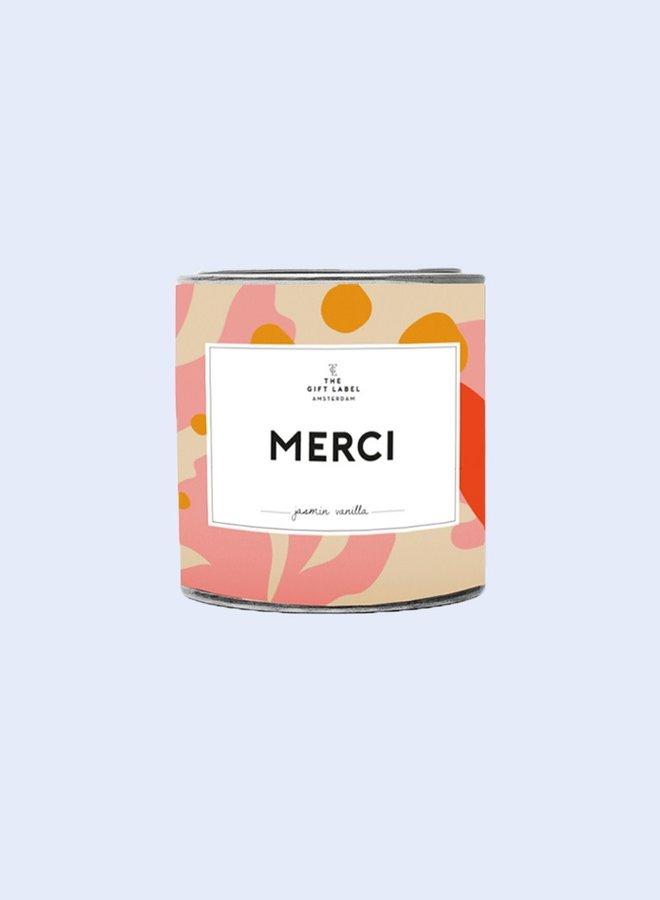 Geurkaars in blik - Merci - 90gr - Fresh Cotton