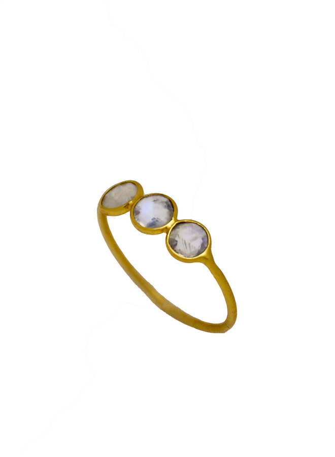 Moonstone Rounds ring