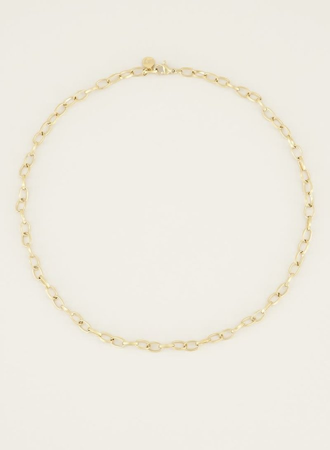 Moments necklace small links  Goud 38+5CM