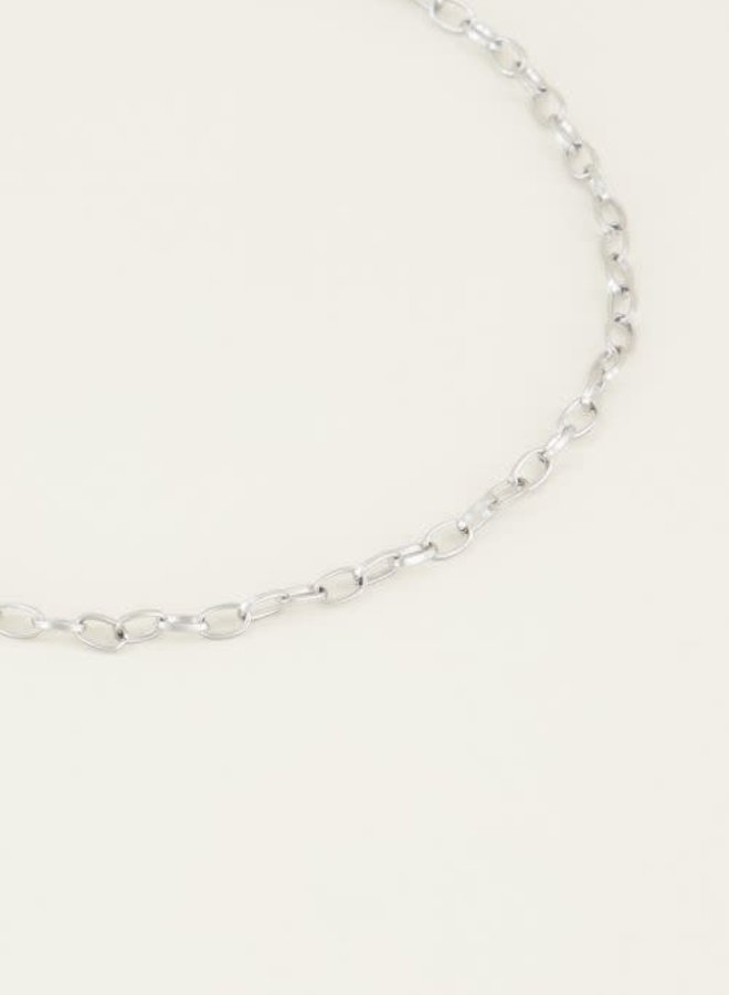 Moments necklace small zilver 38+5CM