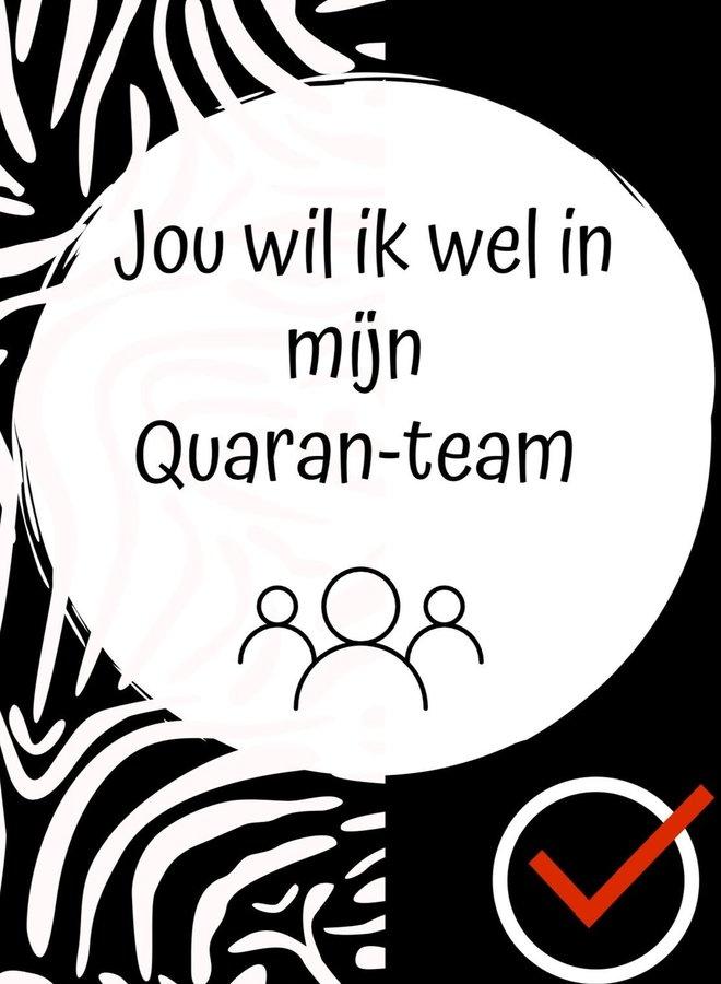 Quaran-team - ansichtkaart