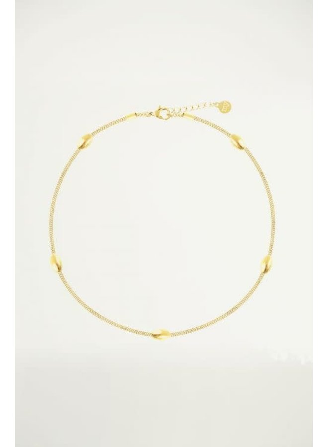 Oval Dots Anklet - goud