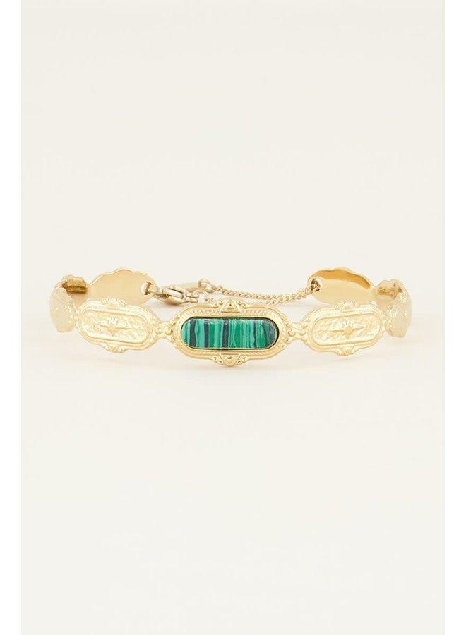 Bangle groene steen
