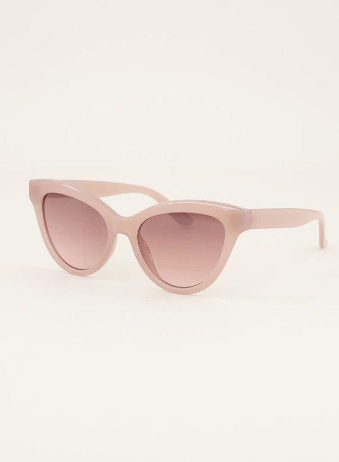 Beige cat eye zonnebril