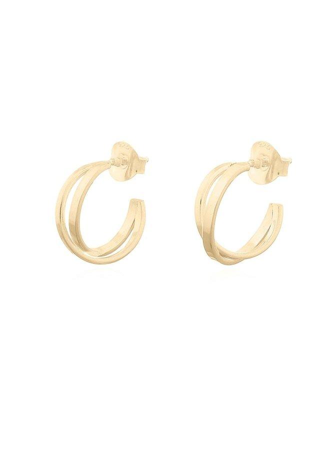 Oorbellen goud – crossed hoops