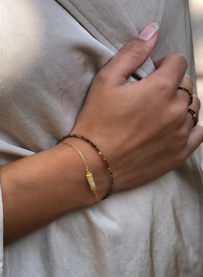 Armband goud – tiger eye