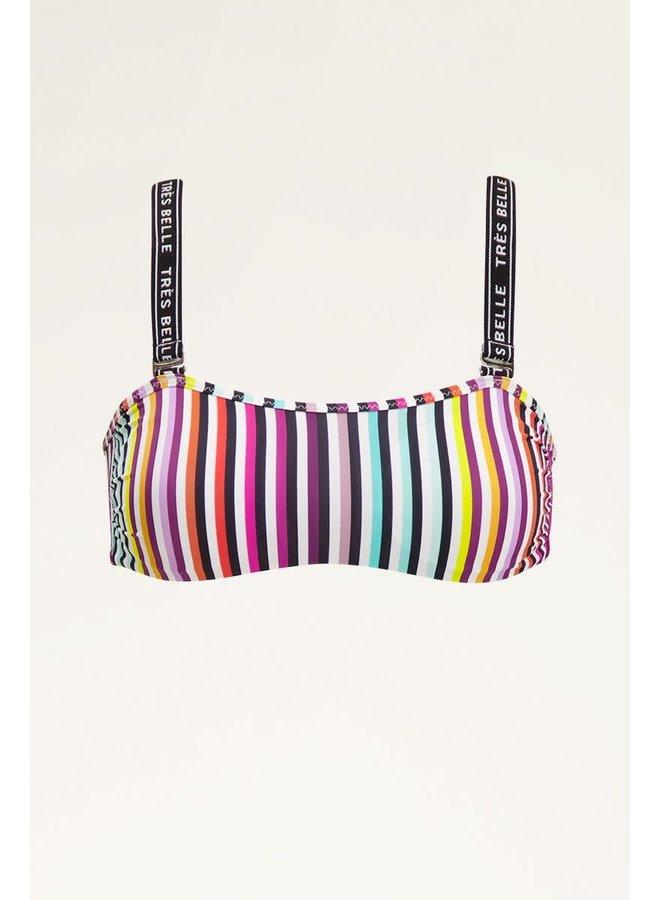 Bikini top gekleurde streep