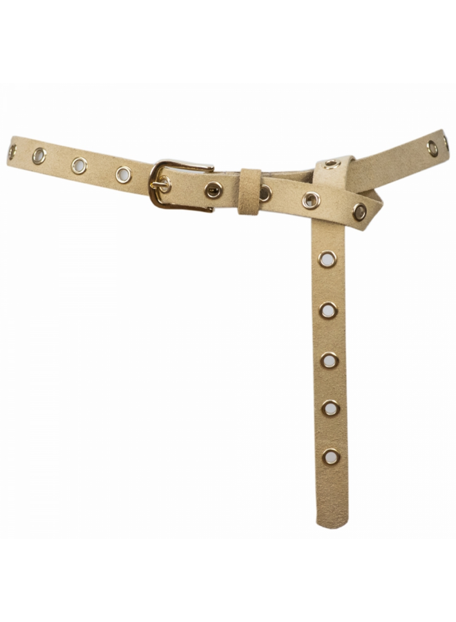Belt 2 cm - sand - leer