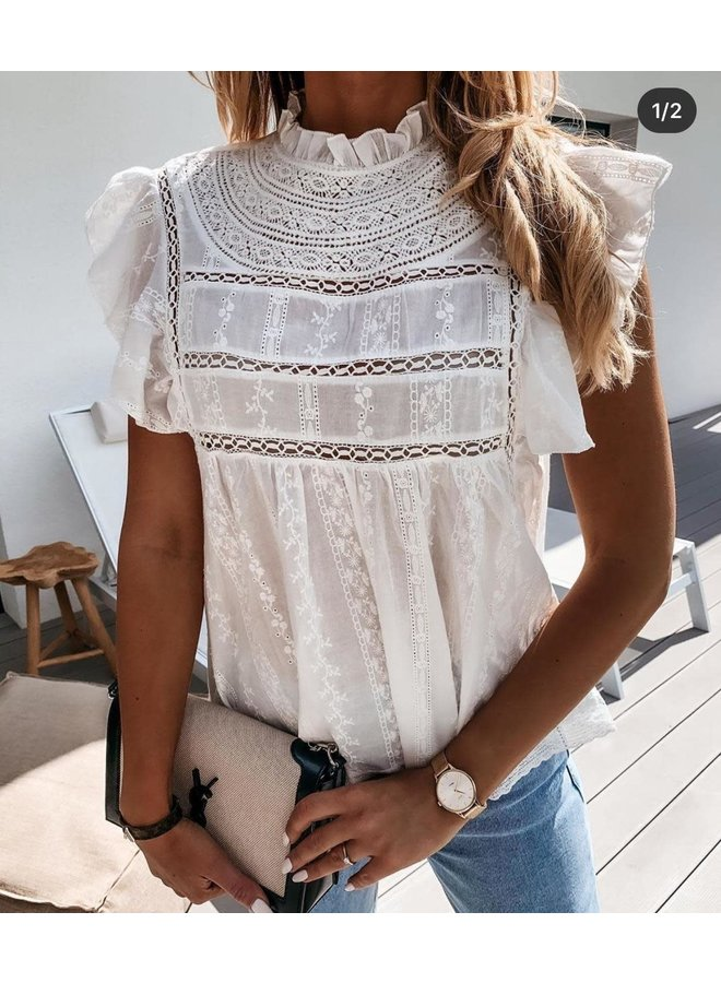 Top/blouse broderie