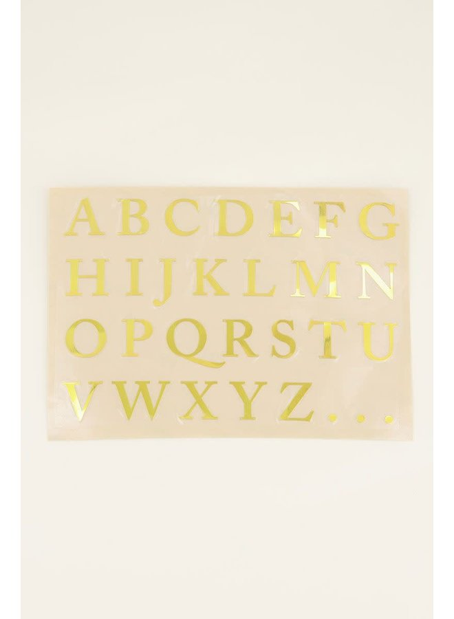 Stickervel initialen
