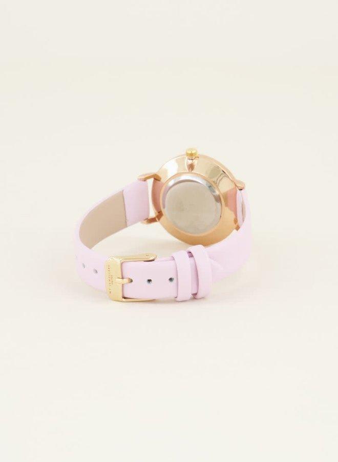 Roze horloge