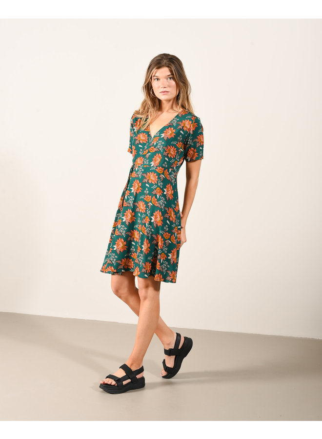 Fabienne Flower Wrap Dress