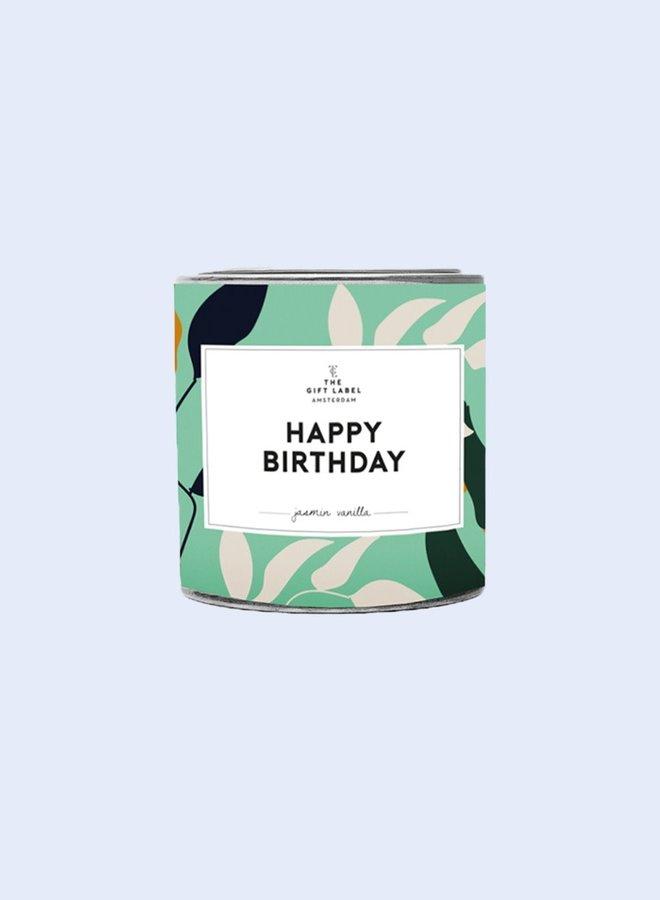 Geurkaars in blik - Happy birthday - 90gr - Fresh Cotton