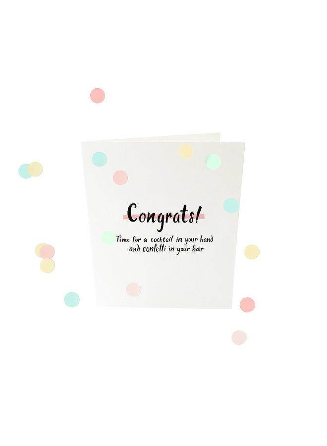 Confettikaart - Congrats V2