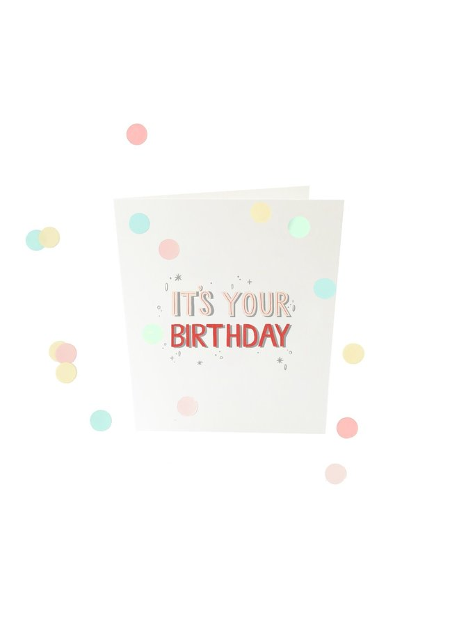 Confettikaart - It's your birthday V2
