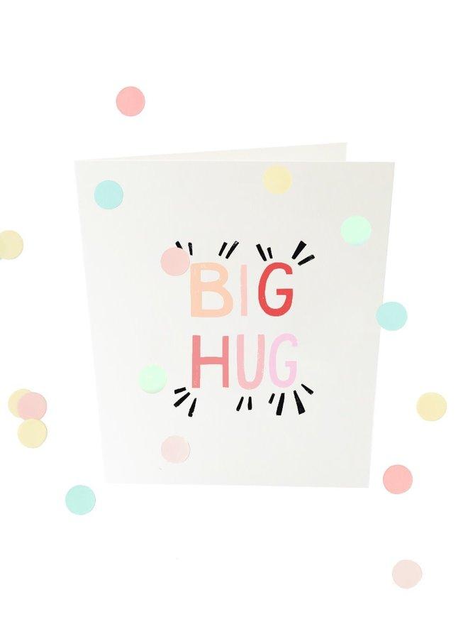 Confettikaart - Big hug V2
