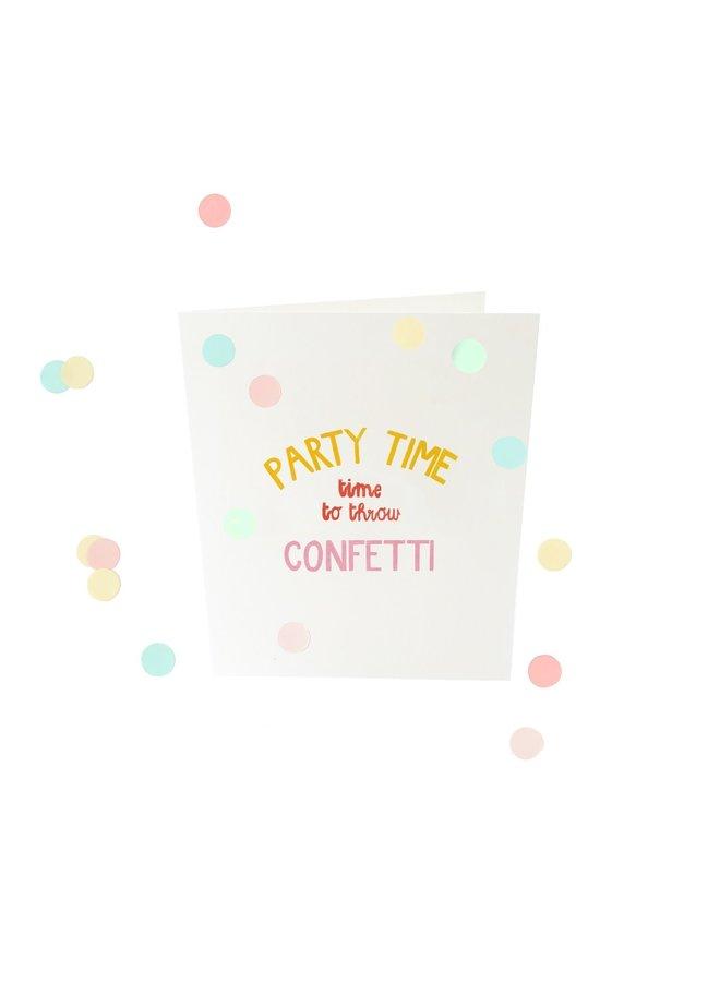 Confettikaart - Party time V2