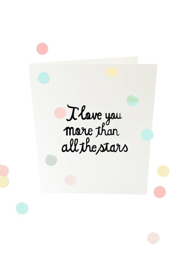 Confettikaart - All the stars V2