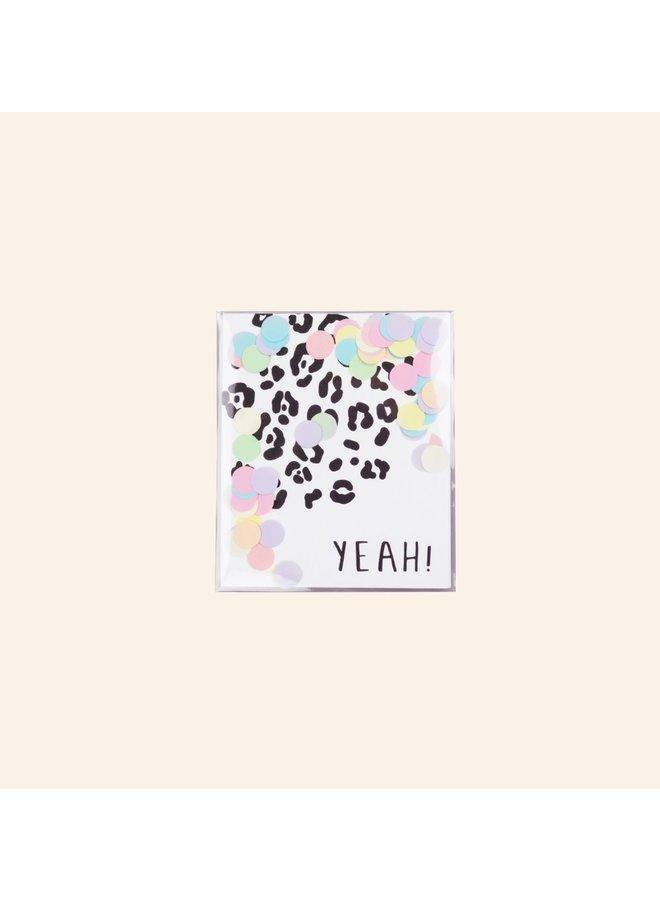Confettikaart - Yeah