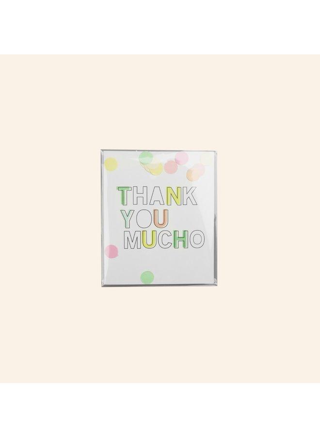 Confettikaart - Thank you mucho