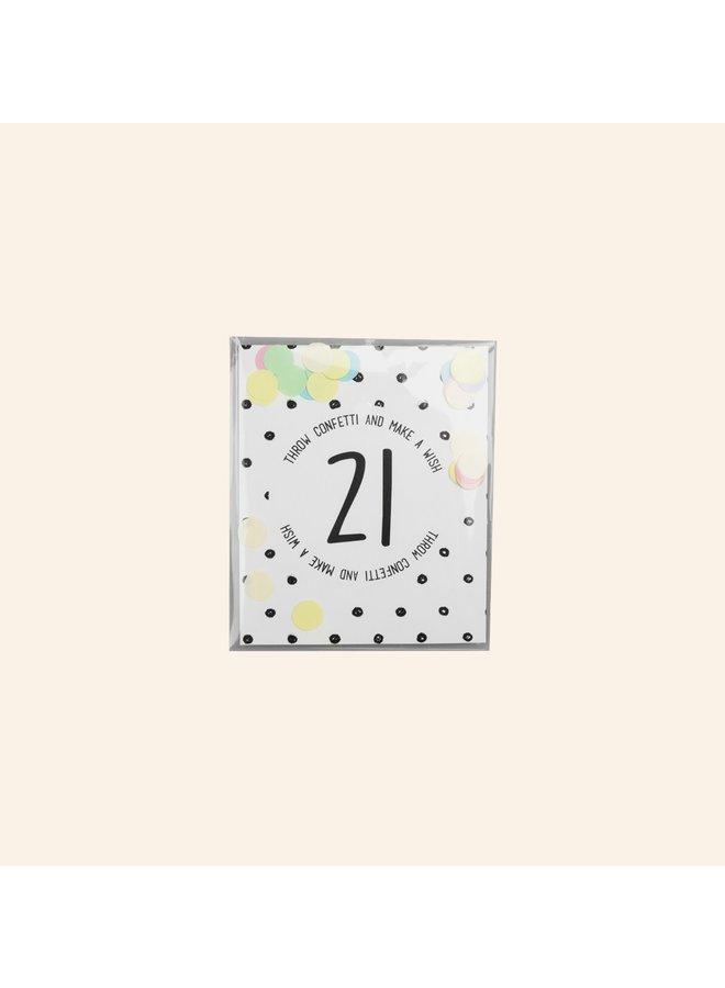 Confettikaart - 21