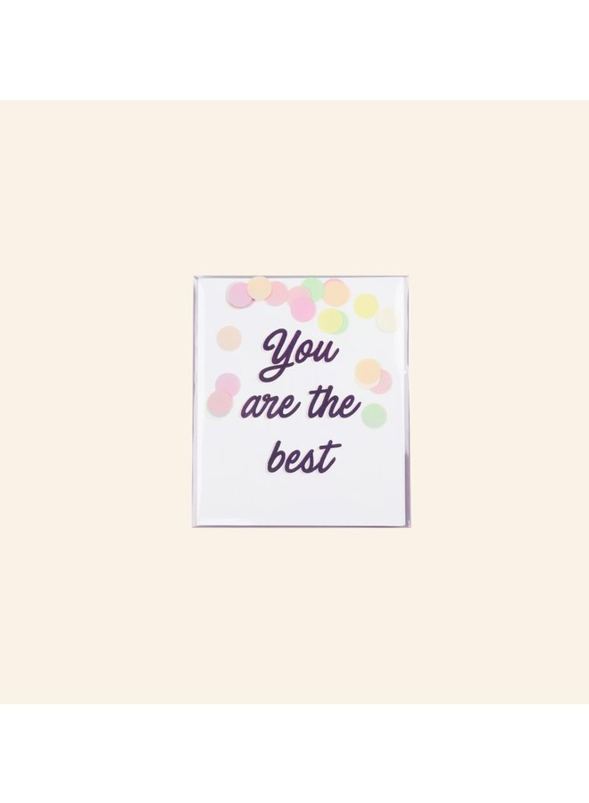 Confettikaart - You are the best