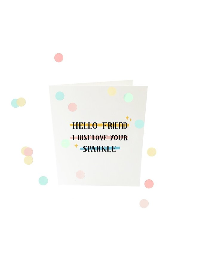 Confettikaart - Hello friend V2