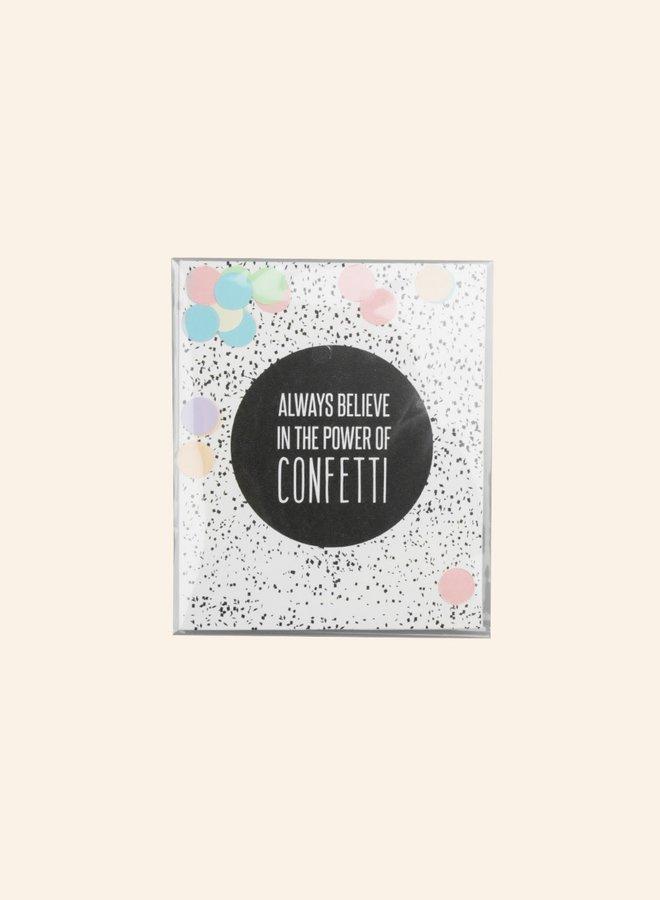 Confettikaart - Power of confetti