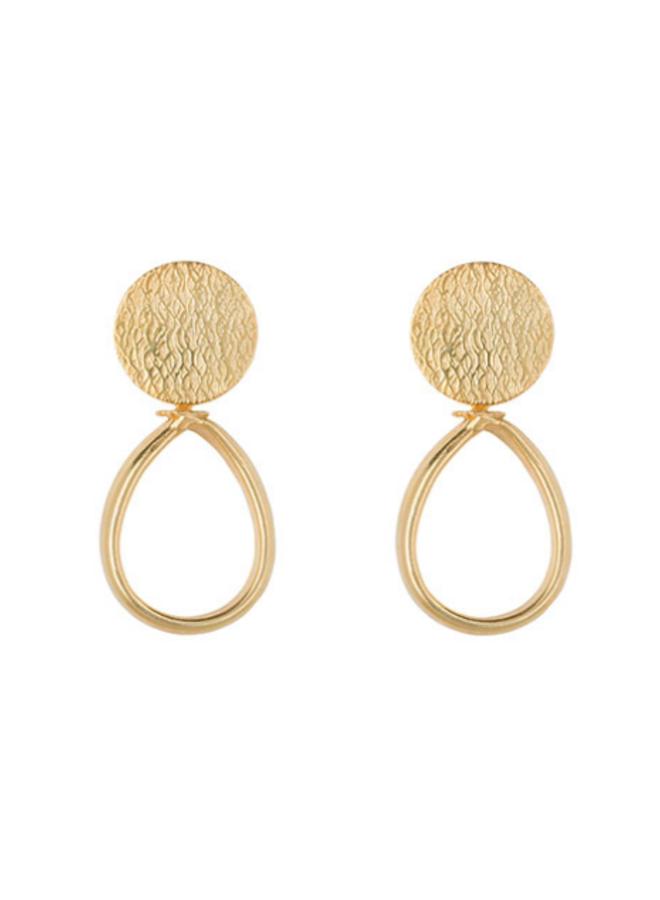 Jaipur Classy Drop Gouden Oorbellen