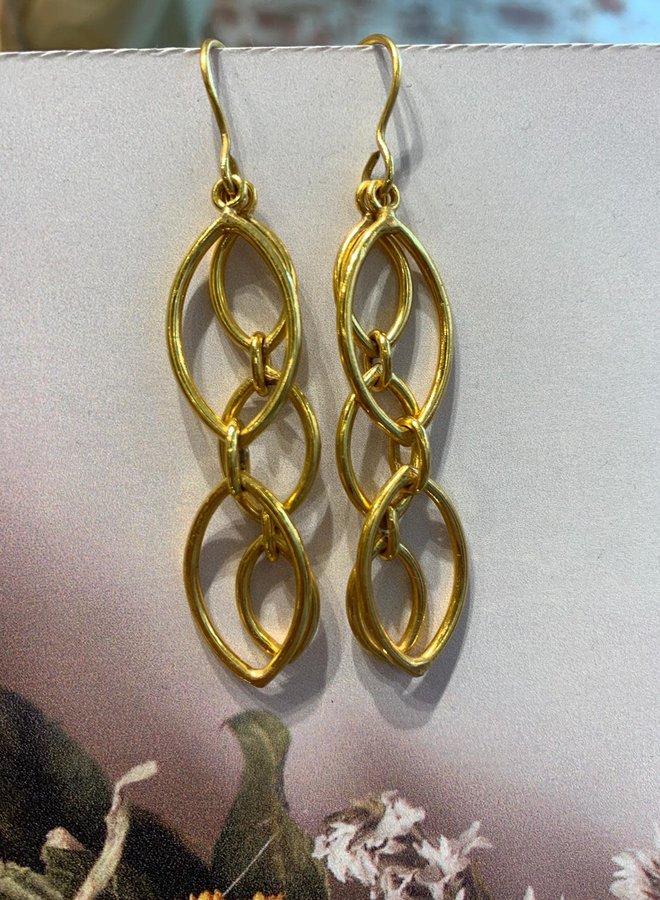 Multi Chain Gouden Oorbellen
