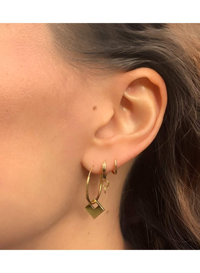 Oorbellen goud – twister swing