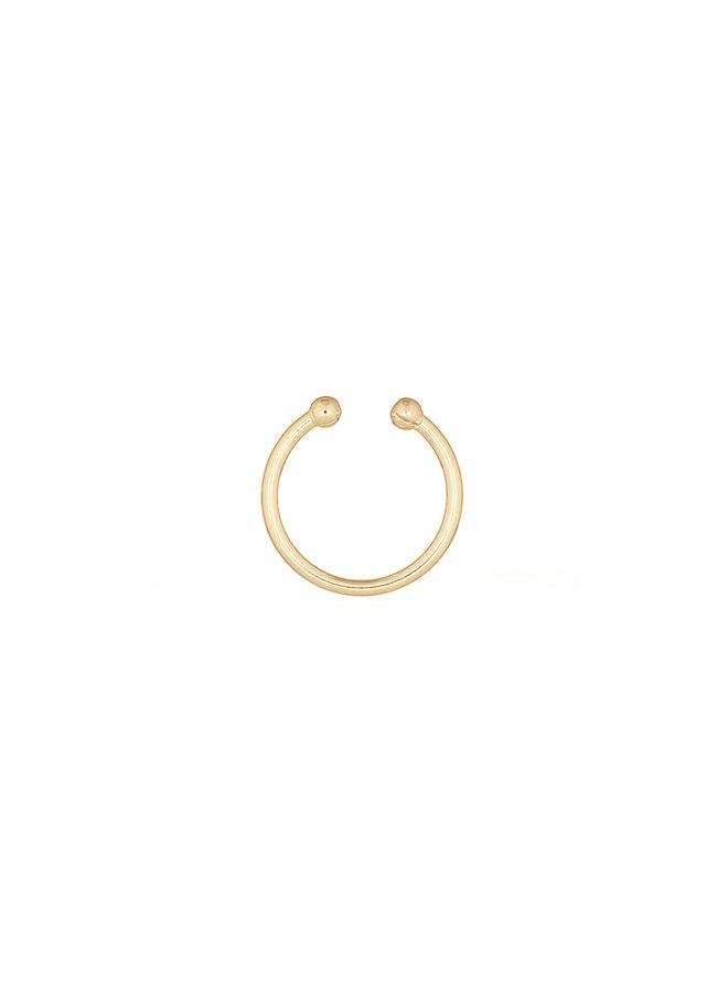 Oorbellen goud – ear cuff – per stuk