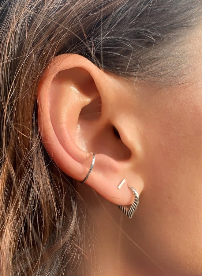 Oorbellen zilver - ear cuff - per stuk