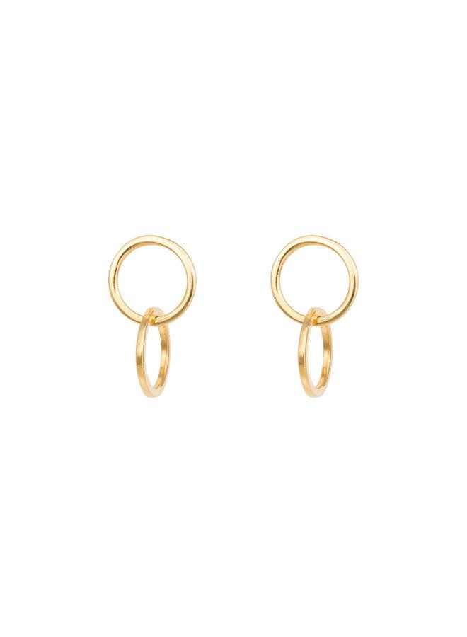 Oorbellen goud - double loop