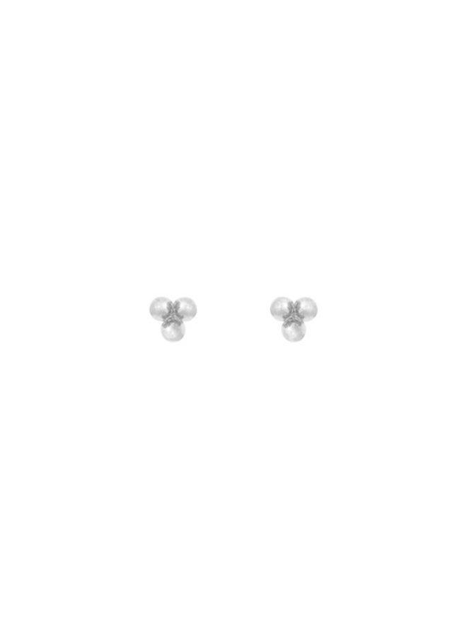 Oorbellen zilver – tiny three