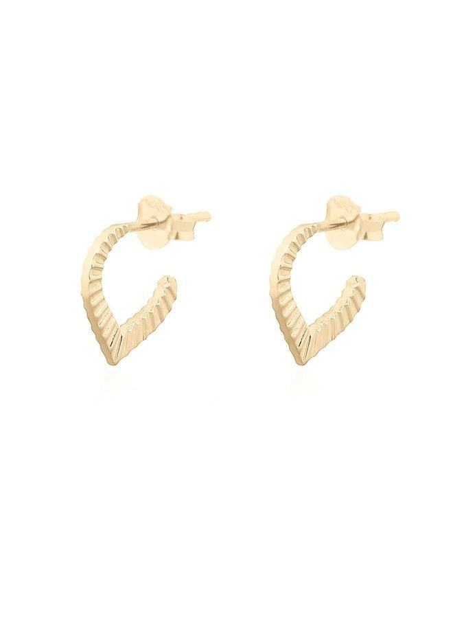 Oorbellen goud – pointy stripes