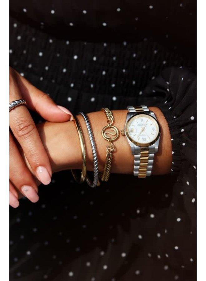 Zwart horloge vierkant