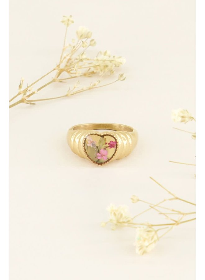 Ring wildflower hartje