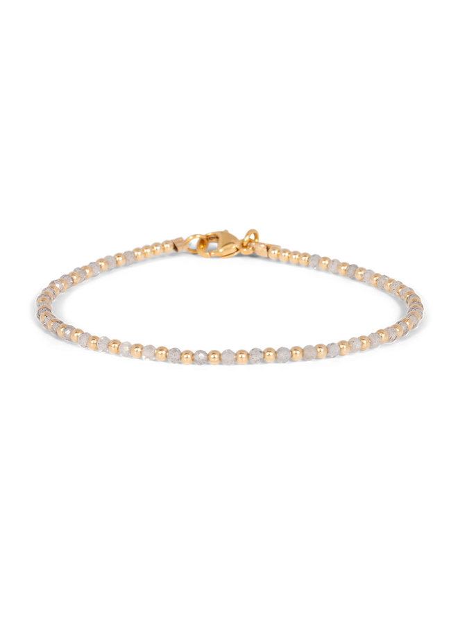 Armband goud – labradoriet one by one