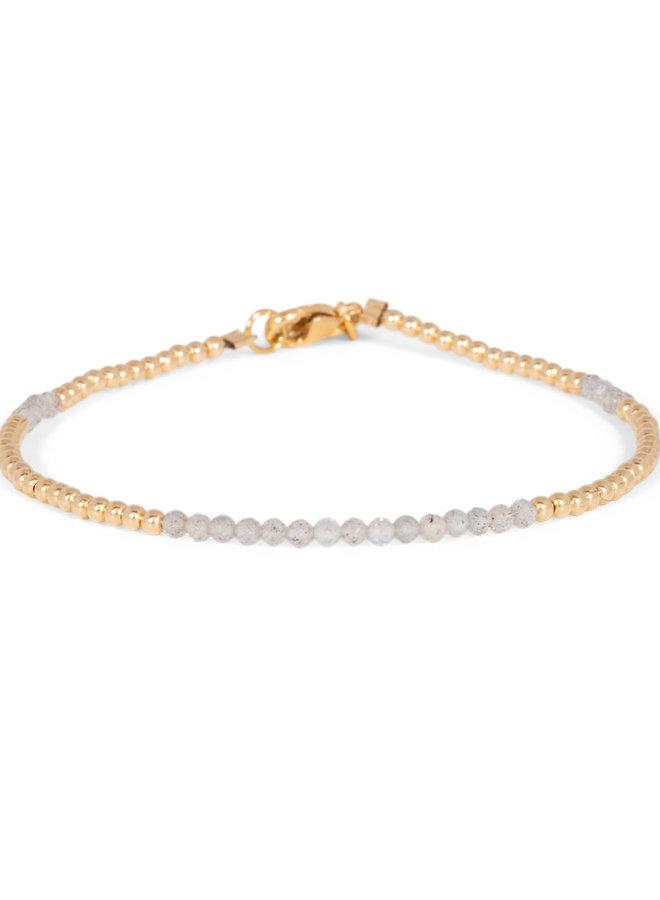 Armband goud – labradoriet