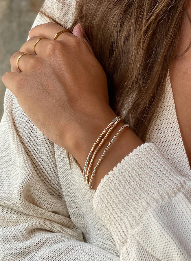 Armband zilver – labradoriet one by one